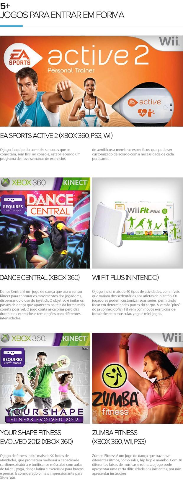 euatleta 5+ jogos para entrar em forma (Foto: Editoria de Arte / Globoesporte.com)