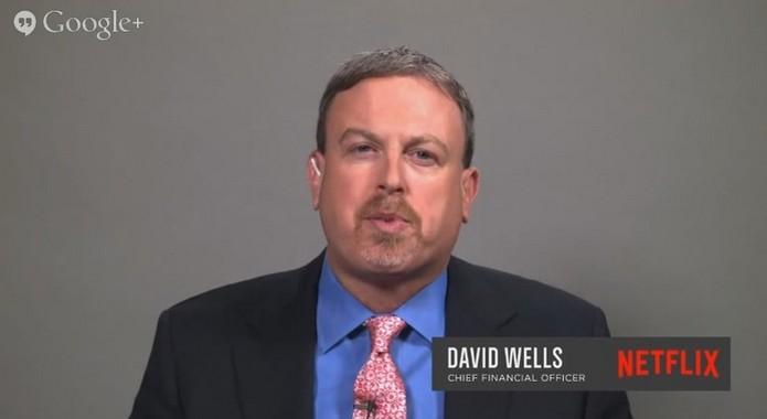 David Wells, diretor financeiro do Netflix, em entrevista (Foto: Reprodução/Youtube)