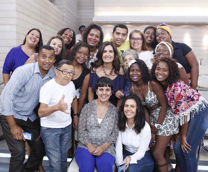Mais plateia com a Fátima  (Foto: Ellen Soares/Gshow)