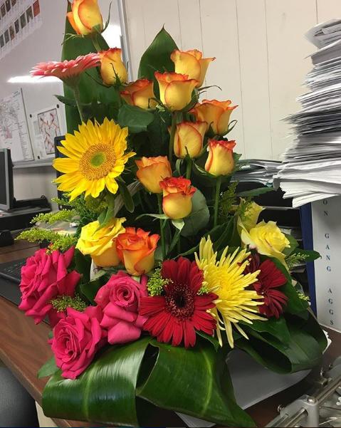 Buquê de flores enviado por Taylor Swift (Foto: Reprodução/Instagram)