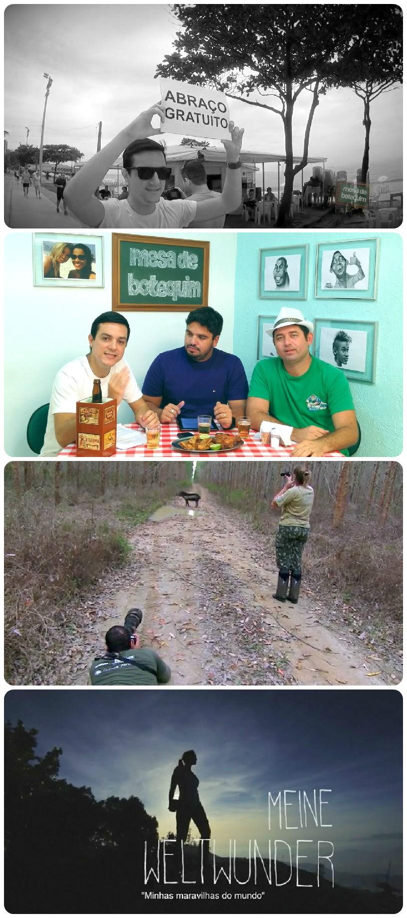 Algumas imagens de vídeos inscritos (Foto: Divulgação)