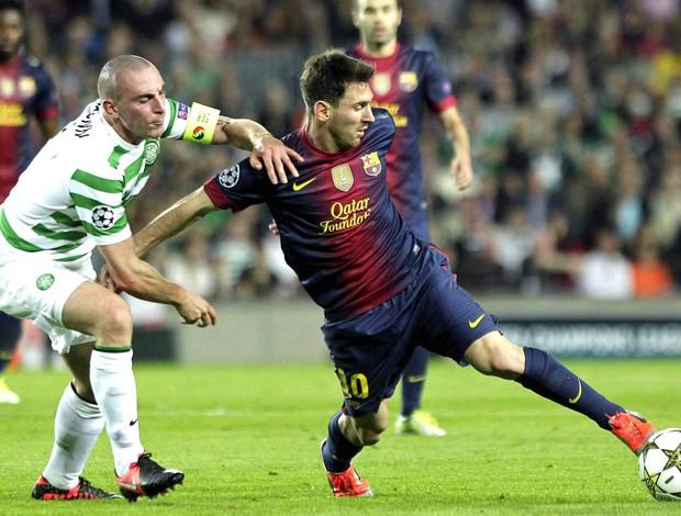 Messi, Barcelona e Celtic (Foto: Agência EFE)