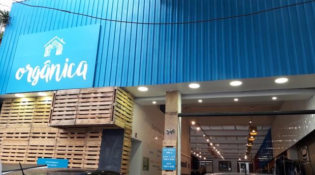 Fachada da Casa Orgânica, mercado localizado na Vila Madalena, em São Paulo (Foto: Divulgação)