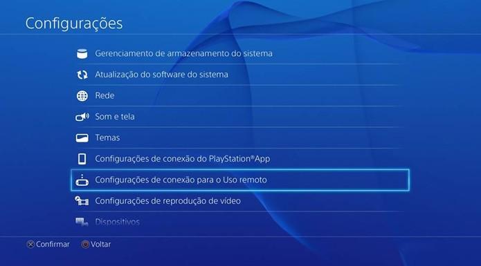 Acione o uso remoto no PS4 se a sincronização falhar (Foto: Reprodução/Renato Carvalho)