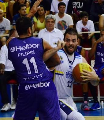 São José x Mogi Campeonato Paulista de Basquete jogo 1 (Foto: Danilo Sardinha/GloboEsporte.com)