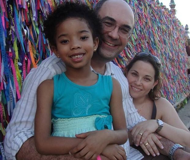 Armando Char, a filha Beatriz e a esposa Katya (Foto: Arquivo Pessoal)