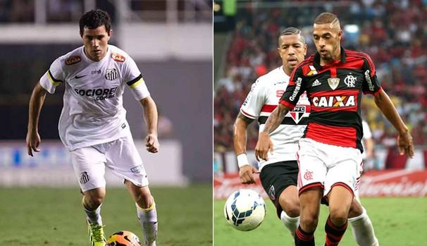 Santos e Flamengo (Foto: Reprodução Globo Esporte)