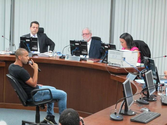 Emerson Sheik Botafogo julgamento (Foto: Gustavo Rotstein)