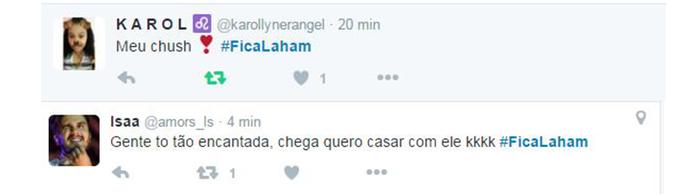 Laham_tweet 3 (Foto: Big Brother Brasil / Gshow)