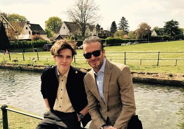 Brooklin e David Beckham (Foto: Instagram/Reprodução)