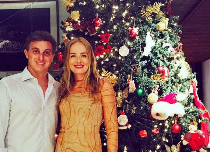 Angélica e Luciano Huck em clima natalino (Foto: Arquivo pessoal)