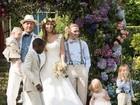 Guy Ritchie, ex de Madonna, se casa com a modelo Jacqui Ainsley; fotos!