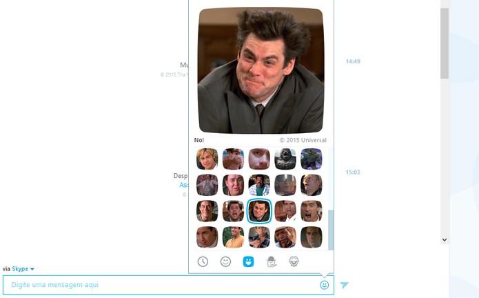 Moji com Jim Carrey pode ser usando quando há bastante frustração na conversa (Foto: Reprodução/Barbara Mannara)