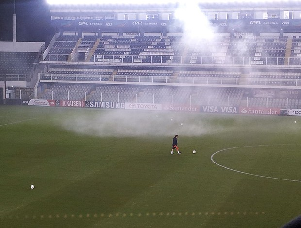 Rojão apos treino do Corinthians (Foto: Carlos Augusto Ferrari / Globoesporte.com)