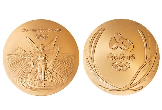 Medalha Ouro lado a lado (Foto: Reprodução )