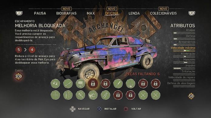 Mad Max: arcanjos são carrocerias especiais com características únicas (Foto: Reprodução/Victor Teixeira)