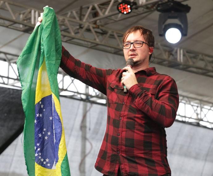 'O Brasil é seu, Jesus'  (Foto: Luiz Renato Correa/RPC)