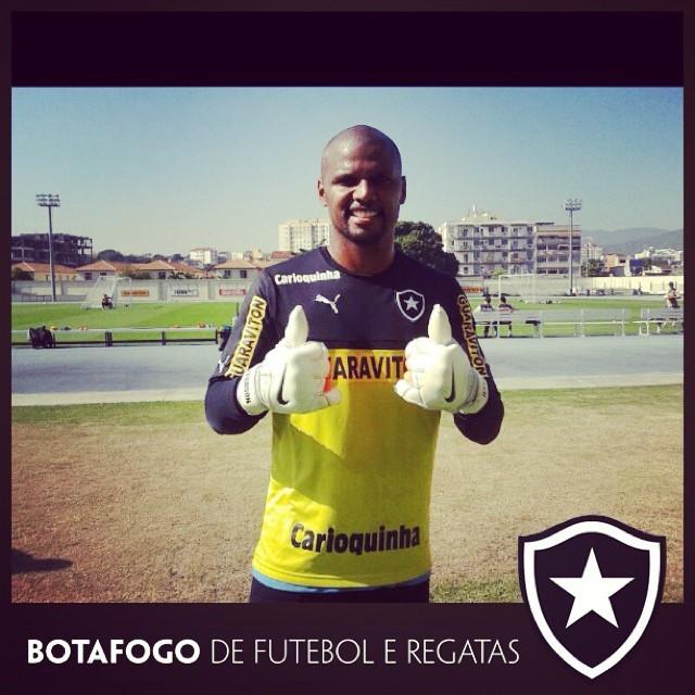 Jefferson treino botafogo (Foto: Reprodução Facebook)