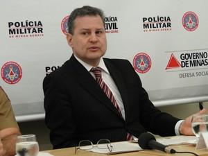 Secretário de Estado de Defesa Social de Minas Gerais, Rômulo de Carvalho Ferraz, em balanço sobre ações de 2012. (Foto: Cristina Moreno de Castro/G1)