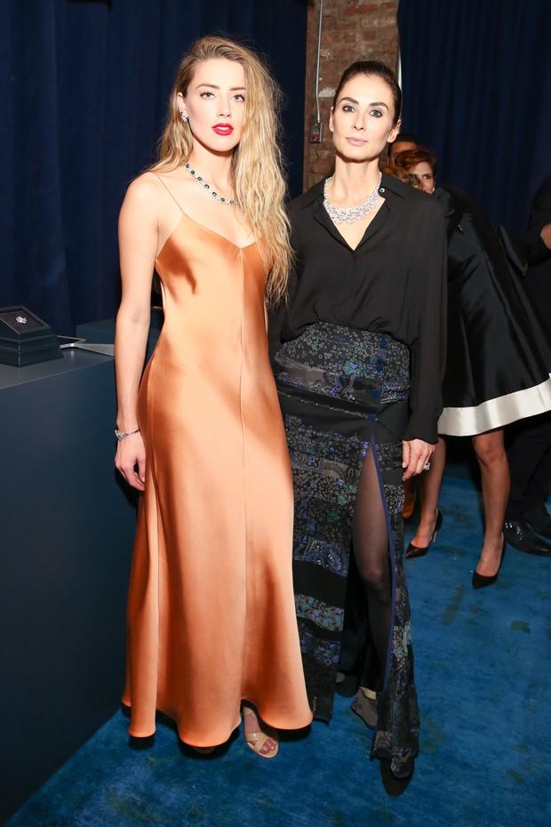Amber Heard e Francesca Amfitheatrof, diretora de design da Tiffany (Foto: Divulgação)