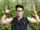 David Lucas, o Orelha, mostra que cresceu e ganhou músculos