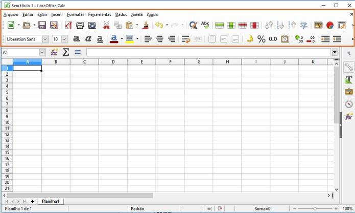 Ferramenta do LibreOffice para a criação de tabelas (Foto: Reprodução/Barbara Mannara)