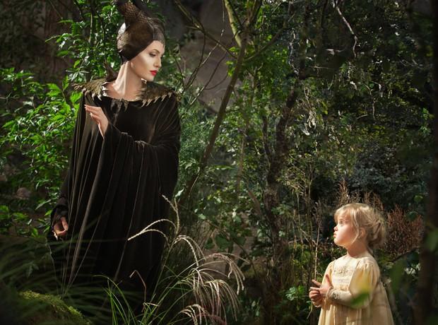 Angelina Jolie no filme Maléfica (Foto: Walt Disney Studios / Reprodução)