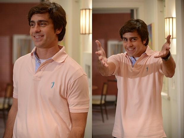 Felipe Abib faz o sonhador Ernesto (Foto: Raphael Dias / TV Globo)