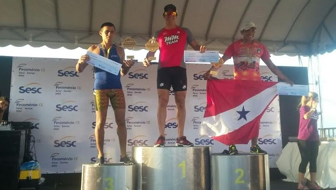 Triatleta santareno, Helton Bastos foi segundo colocado no Sesc Triathlon Circuito Fortaleza (Foto: Helton Bastos/Arquivo Pessoal)