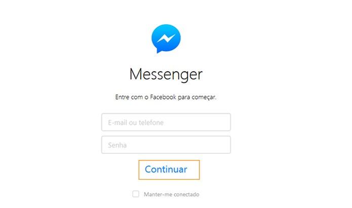 Acesse o Facebook Messenger pelo computador (Foto: Reprodução/Barbara Mannara)