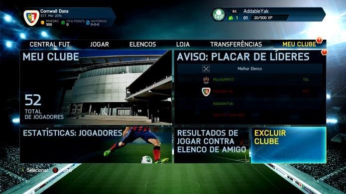 Fifa 14: como excluir seu clube no Ultimate Team (Foto: Reprodução/Murilo Molina)