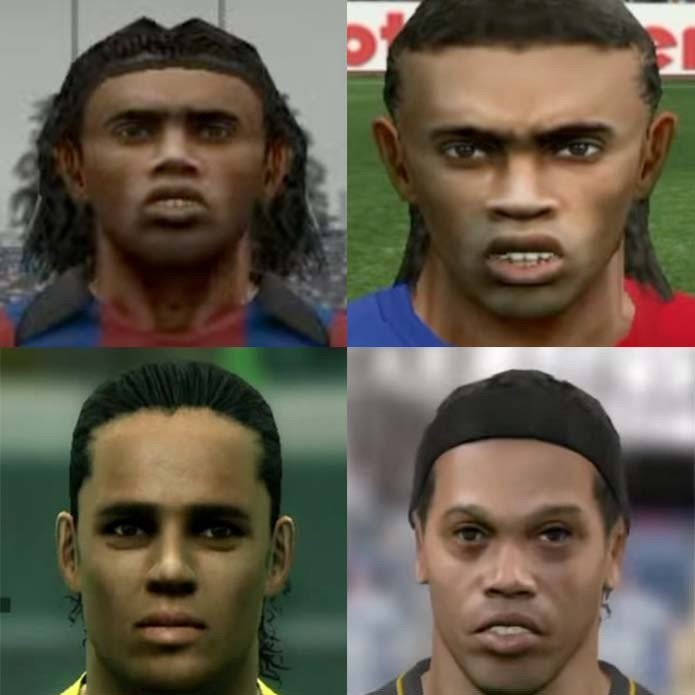 Ronaldinho evoluiu com Pro Evolution Soccer PES (Foto: Reprodução/Murilo Molina)