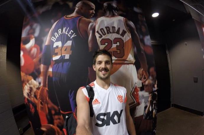 Flamengo basquete treino estados unidos nico laprovittola (Foto: Divulgação)
