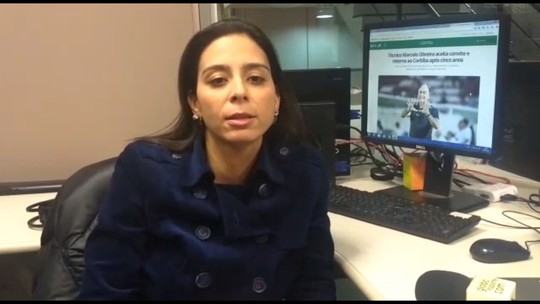 Técnico Marcelo Oliveira aceita convite e retorna ao Coritiba após cinco anos