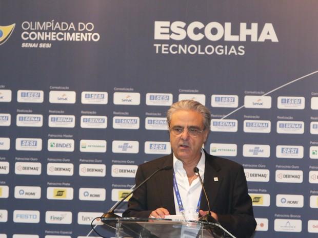 Robson Andrade no primeiro dia da OC (Foto: Thiago Rios Gomes)