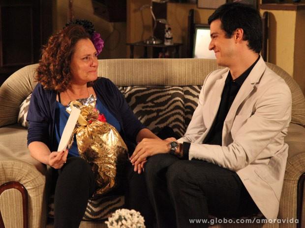 Márcia fica emocionada (Foto: Carol Caminha/TV Globo)