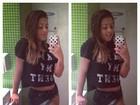 Filha de Romário posa de shortinho em banheiro de shopping no Rio