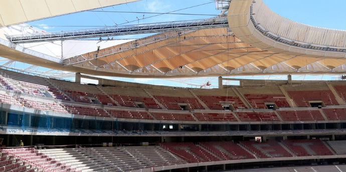 BLOG: Cadeiras e cobertura: obra do estádio do Atlético de Madrid entra na reta final