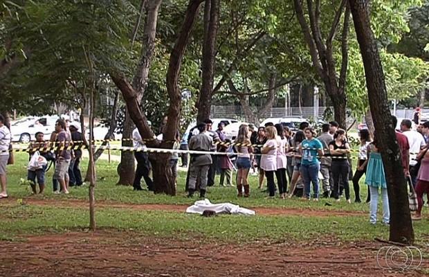 Acusado de matar torcedor do Goiás é condenado a 9 anos de prisão em Goiânia (Foto: Reprodução/TV Anhanguera)