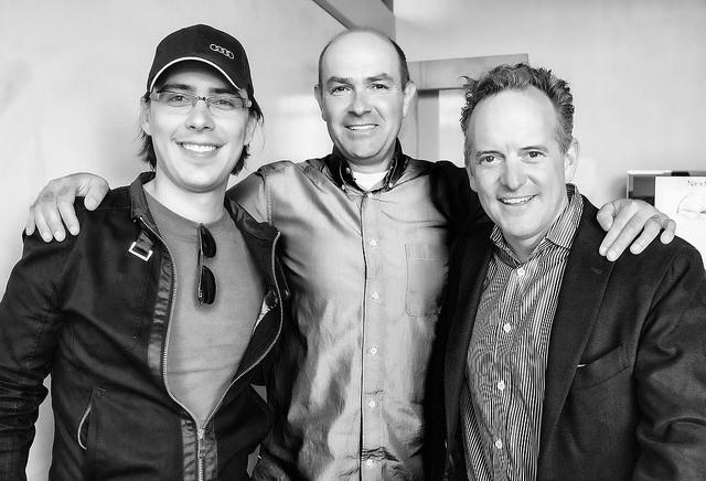 Jordi Muñoz (à esquerda), Chris Anderson (centro) e o investidor Jon Callaghan