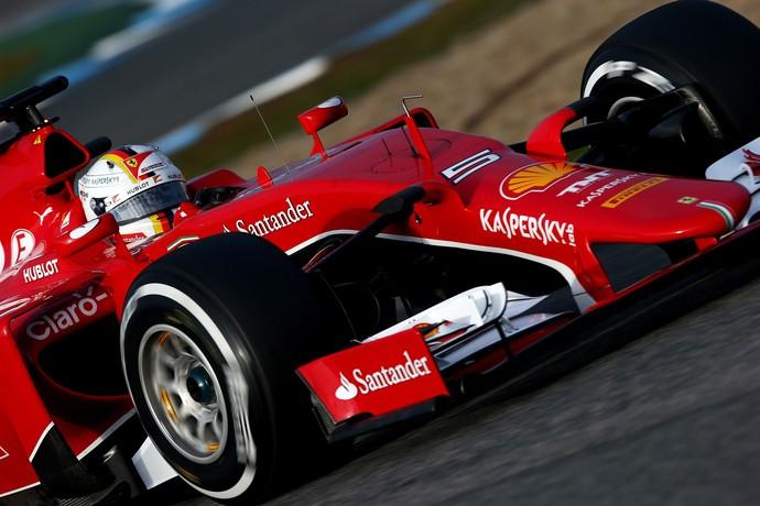 Sebastian Vettel - Ferrari - dia 2 testes Fórmula 1 em Jerez (Foto: Getty Images)