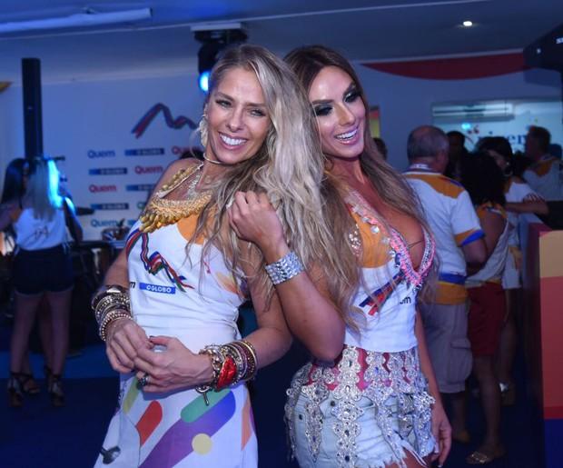 Adriane Galisteu e Nicole Bahls (Foto: Renato Wrobel/ Ed. Globo)