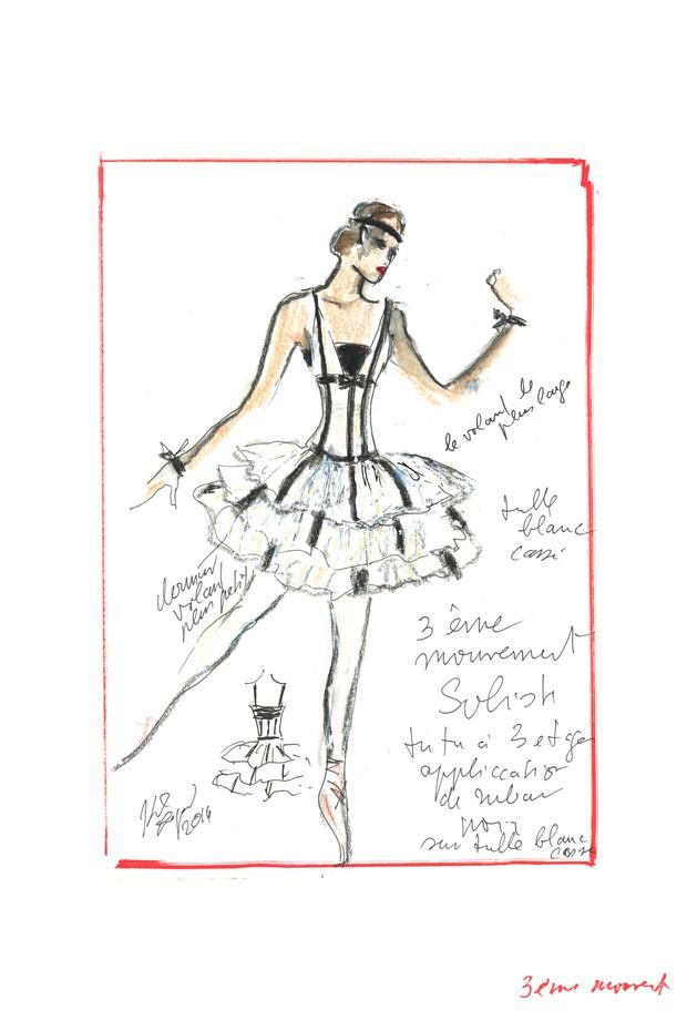 karl lagerfeld bastille28 Karl Lagerfeld cria looks para espetáculo de ballet na França