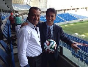 Cafu e Bebeto na inauguração da Arena das Dunas (Foto: Blog do Planalto)