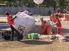 No Rio, garis já recolheram quase 400 t de lixo, 30% a mais que em 2017