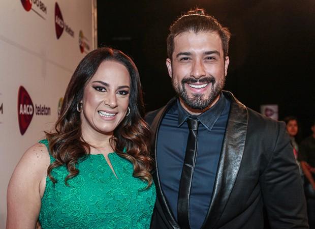 Silvia Abravanel e o marido, o cantor sertanejo Edu Pedroso (Foto: Raphael Castello / AgNews)
