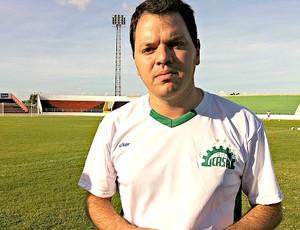 Tarcisio Pugliese, treinador do Icasa (Foto: Diego Morais / Globoesporte.com)