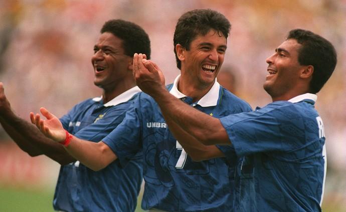 Mazinho bebeto e romário na copa do mundo de 1994 (Foto: Agência Getty Images)