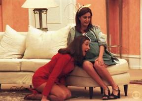 Márcia Cabrita ficou grávida durante as gravações do seriado Sai de Baixo (Foto: CEDOC)
