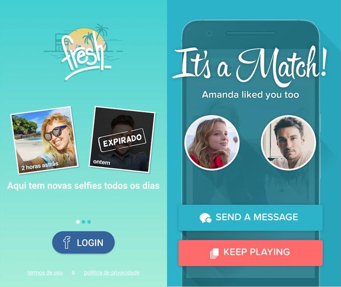 O Fresh e o Tinder tem conexão com o Facebook, mas só o Tinder mostra quem tem amigos em comum (Divulgação/Match.com)